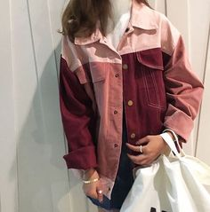 Source: Pinterest // Brand: It Girl Clothing // c. 2017 // Likes: Denim patchwork is trending, but this is another take on the trend. Different types of tints and shades are paired together for a unique look.