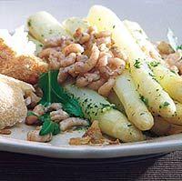 Recept - Gemarineerde asperges met garnalen - Allerhande Marinated Asparagus, Asparagus Recipe, Vegetarian Salad Recipes, Dutch Recipes, Shrimp Recipes, I Foods, Love Food, Veggies, Favorite Recipes
