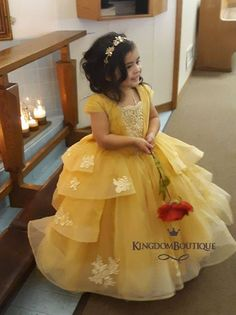 Nov 2018 - Amazing little Princess looks so bright in her beautiful Belle dress from Coral reef collection! Baby Girl Frocks, Baby Girl Party Dresses, Kids Party Wear Dresses, Kids Dress Wear, Toddler Girl Dresses, Flower Girl Dresses, Girls Dresses, Kids Wear, Toddler Girls
