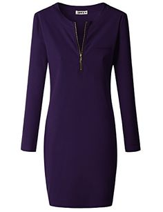 Doublju Womens Bigsize Longsleeve Casual Rib Cotton Knit Henley Sports Dress Violet Medium Doublju http://www.amazon.com/dp/B00QGMNDAK/ref=cm_sw_r_pi_dp_zlUNub00APXEP