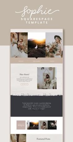 The Sophie Squarespace Template Kit is a rustic and romantic website kit with a classic layout. It has been designed with photographers, designers, or other creative business types in mind. Layout Design, Layout Web, Design De Configuration, Sites Layout, Website Design Layout, Logo Design, Design Design, Email Layout, Flat Design