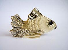 Abraham Palatnik Lucite Fish Pal Signed With by FoxandThomas, $145.00