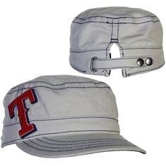 New Era Texas Rangers Ladies Chic Cadet Adjustable Hat - Stone