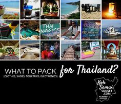 How to pack for Thailand