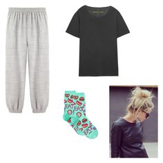 """""""Pajamas"""" by kat-13 ❤ liked on Polyvore featuring La Garçonne Moderne, Enza Costa and HOT SOX"""