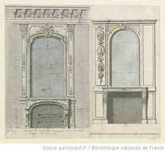 Design for the chimney for the Duc d'Orlèans, 1710