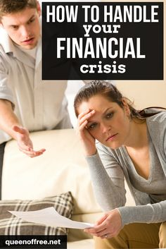 Are you in the midst of a financial crisis? Read this post before you do anything else! Do NOT make a decision that causes more problems. Ways To Save Money, Money Tips, Money Saving Mom, Finance Organization, Managing Your Money, Frugal Living Tips, Budgeting Finances, Financial Tips, Money Matters