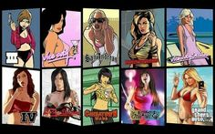 GTA Pin Up Girls.