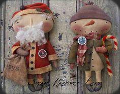 Санта и Снеговик