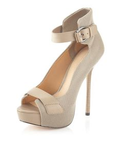 Chap Platform Pump, Khaki by L.A.M.B. at Last Call by Neiman Marcus. Kinda really like those