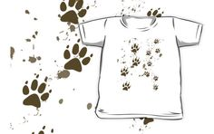 Wolf Tracks Kids Clothes #wolf #wolves #wolfpack #animals #paws