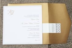 Gold and Silver Metallic Wedding Invitation :: designed by idieh design