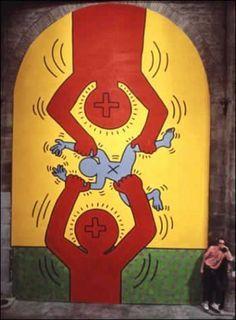 'The Ten Commandments X' (1985)  - Keith Haring
