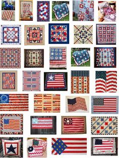 Quilt Inspiration: free patterns for patriotic quiltsQuilt Inspiration: Free pattern day: Patriotic and US flag quilts - links to quilts of honor/ pictures only red, white and blue quilts.We have a huge stash of free patterns in our Free Quilt Flag Quilt, Patriotic Quilts, Patriotic Crafts, Quilt Blocks, Blue Quilts, Mini Quilts, Quilt Patterns Free, Free Pattern, Blue Patterns