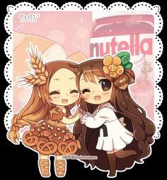 Bread Chan and Nutella Chan by DAV-19.deviantart.com on @deviantART