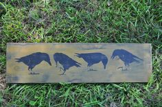 Over Long Wood Sign Primitive Olde Crows Rustic Folk Art Country Home Decor Primitive Signs, Country Primitive, Craft Gifts, Wood Signs, Folk Art, Diy And Crafts, Primitives, Woodworking, Game Boards