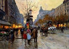 The Grands Boulevards by Edouard Cortes (1882-1969, France) - Thx WahooArt