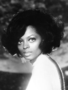 Diana Ross, 1970. Achieve a similar look with Capelli Care Hourglass Rollers in Yellow or Aqua or Halo Rollers in Yellow or Orange.
