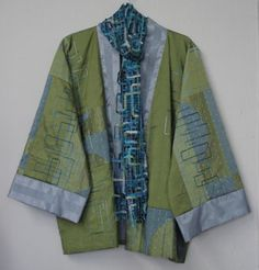 Ikina Jacket with out side plackets   Just Dreaming scarf to match jackets