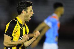 El grito de Nahitan Nandez, en el segundo gol de Peñarol.
