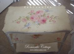 Debi Coules Shabby French Chic Art table with shelves