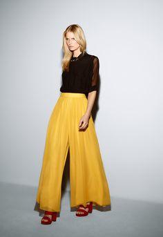 yellow palazzo pants