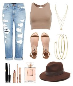 """tan"" by jaceylea on Polyvore featuring Genetic Denim, Gottex, H&M and Elsa Peretti"