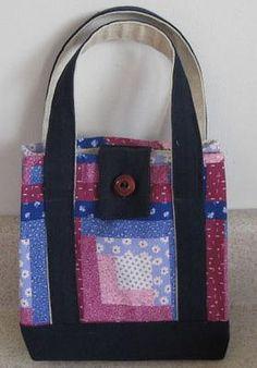 DIY School lunch bag: DIY Free Pattern for a Small Handbag or Stylish Lunch Sack