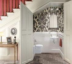 Idées sur l'utilisation de l'espace sous L'escaliers, ici La toilette ♥♥