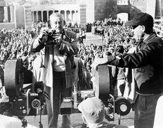 "William Wyler on the set of ""Ben-Hur""."