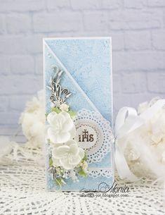 Shabby Chic Cards, Vintage Shabby Chic, First Communion, Cute Cards, Vintage Cards, My Works, Diy And Crafts, Ornament, Card Making