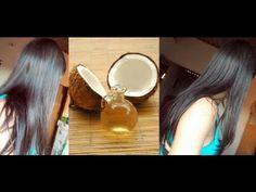 Faça seu óleo de côco EM CASA + Aplicação nos cabelos e RESULTADO !!