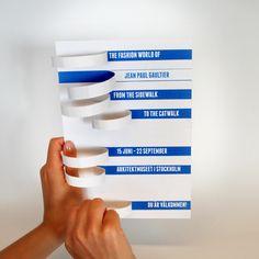 Invitation card - Jean Paul Gaultier by Anna Johansson