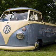 VW blue bus truck