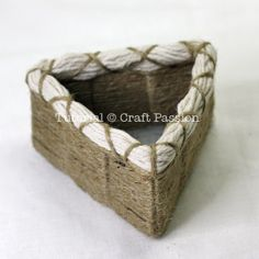 Tutorial and Templates to make handwoven baskets of string, yarn, or strips of cloth