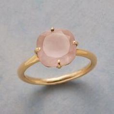 You'll love the sweet color in this stunning 'Angelina' rose quartz ring. size 6..... sundance catalog