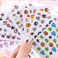 nail art Stickers 3d Beauty Sticker for Nails Harajuku Monsters University Nail Art Charms Manicure Decals Decorations #Affiliate