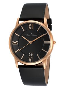 The Dress Watch Feat. Lucien Piccard Lucien Piccard, Casual Watches, Stainless Steel Case, Mens Fashion, Unisex, Black, Men's Apparel, Leather Watches, Women