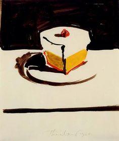 Wayne Thiebaud .watercolour 1964