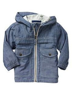Chambray jacket in indigo (Baby Gap)