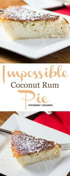 Mom wasn't a cook at all, really didn't like it but I was so happy to find first her Mexican Impossible Pie recipe and then this Impossible Coconut Rum Pie.