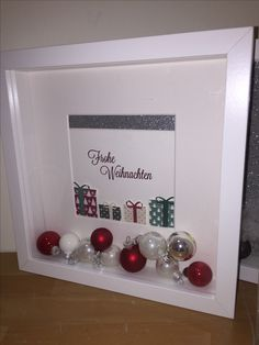 Ribba Weihnachten - MY World Christmas Box Frames, Christmas Shadow Boxes, Christmas Art, Christmas Holidays, All Things Christmas, Christmas Ornaments, Christmas Party Themes, Christmas Activities, Homemade Christmas Gifts