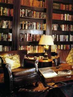 Stunning Home Library Ideas for Your Home. The love of reading is great, home library are awesome. However, the scattered books make the feeling less comfortable and the house a mess. Br House, Interior Design Minimalist, Dream Library, Cozy Library, Library Ideas, Beautiful Library, Future Library, Grand Library, Library Chair