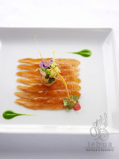 Cured Salmon by lebua Hotels and Resorts - artistic #plating