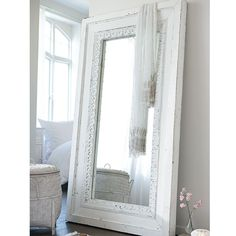 spiegel mit holzrahmen weiß