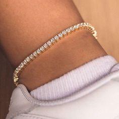 White Gold Anklets, Silver Anklets, Diamond Bracelets, Silver Bracelets, Bangles, Tennis Necklace, Anklet Bracelet, Gold Plated Rings, Amethyst Stone