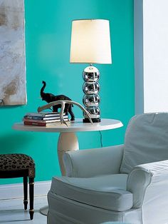 Mexicali turquoise Benjamin Moore, for Rayn's room