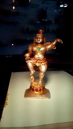 antique krishna idol