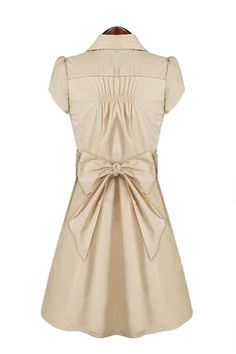 LOVE LOVE LOVE the back of this Dress! Love the Front too! SO CUTE! ADORE the Bow on the Back! #Super #Cute #Fall #Fashion #Love #Bow #Dress
