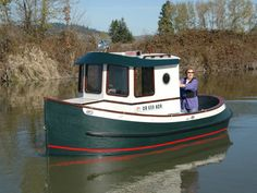"The ""Lady J"" tug was built from Berkeley Engineering Co. boat plans, for their fourteen foot three inch tug. I lengthened the ""Lady J"" to sixteen feet 10 inches and the cabin by one foot. This allowed room for two V berths, porta potty & small galley."